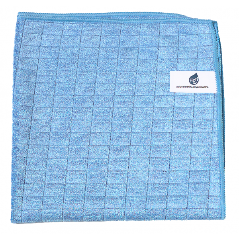 HETI Mikrokuitupyyhe Ruutu 38x38 cm  sininen