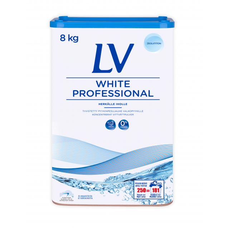 LV White Professional pyykinpesujauhe 8 kg